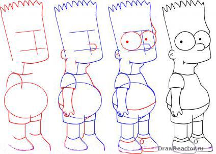 Как рисовать симпсонов гомера поэтапно