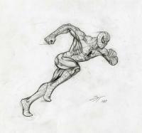 Человек-паук в БЕГЕ урок рисования карандашом