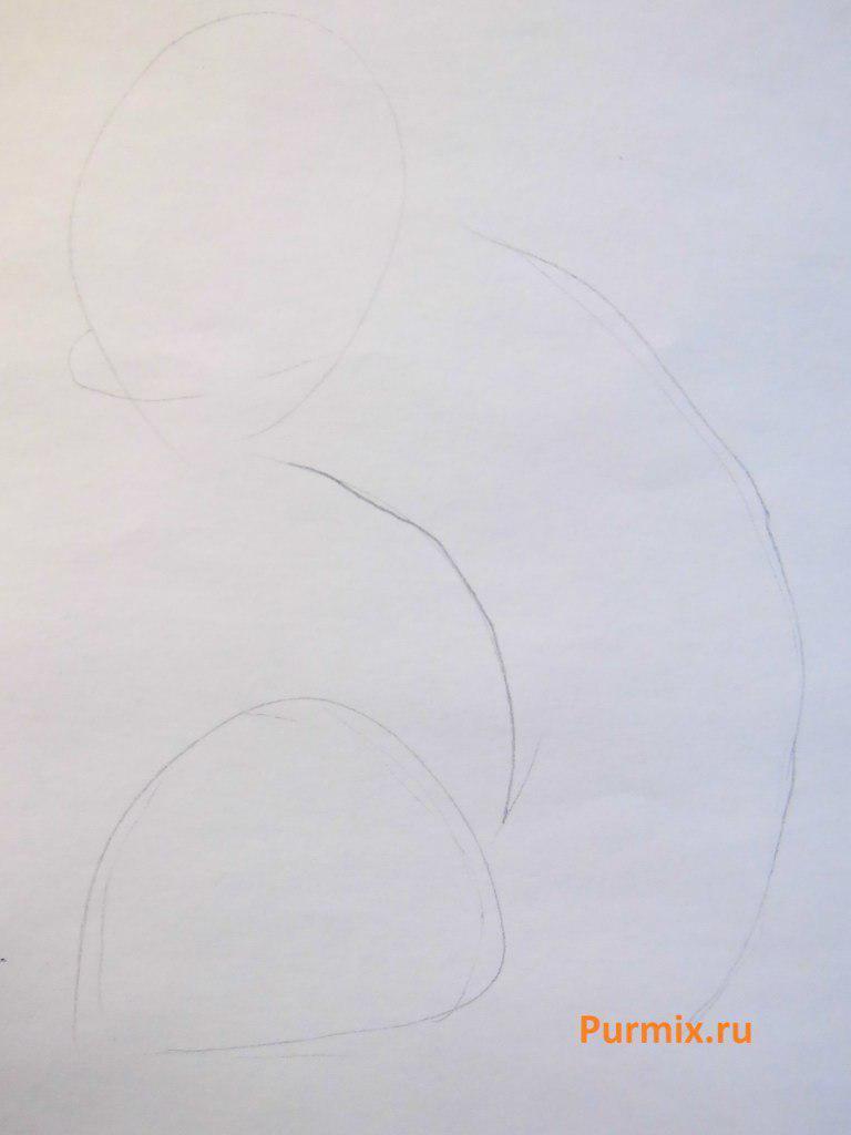 Рисуем арт котопса  на бумаге