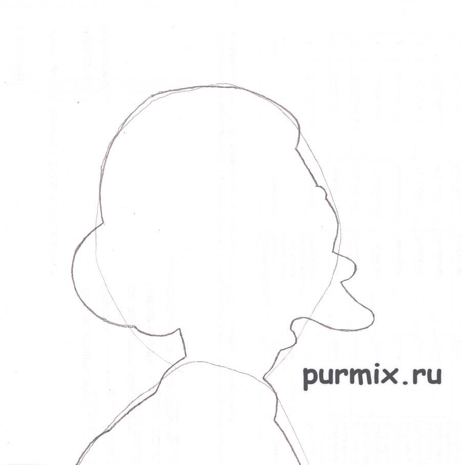 Как нарисовать Биатрис из мультсериала Симпсоны карандашом