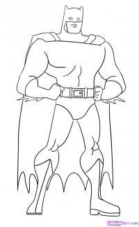 Бэтмена карандашом
