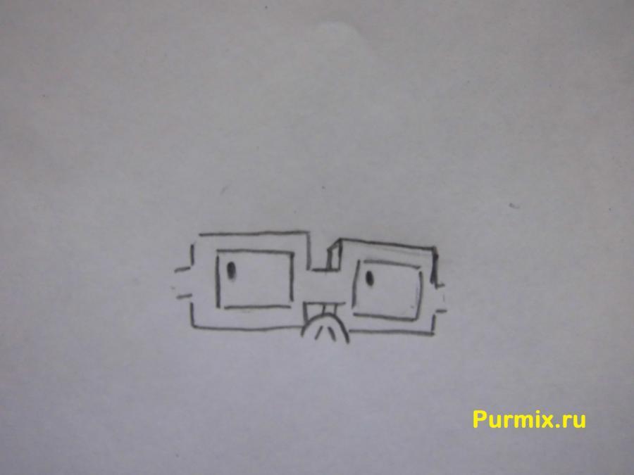 Как нарисовать Чаки из мультсериала Ох уж эти детки карандашом