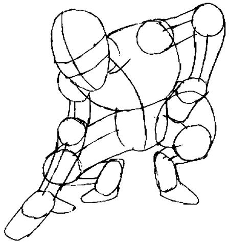 Рисуем человека паука для начинающих - шаг 5