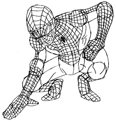 Рисуем человека паука для начинающих - шаг 7