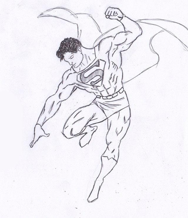 Рисуем Человека из стали - шаг 8