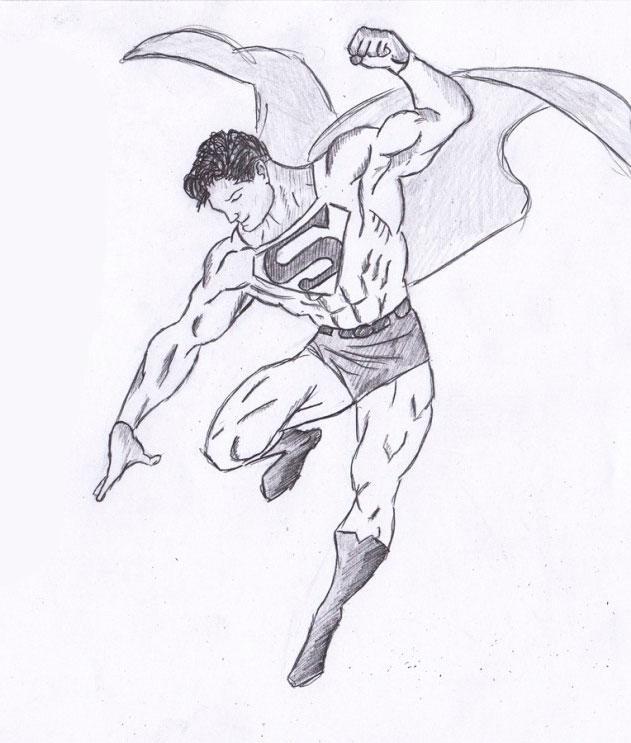 Рисуем Человека из стали - шаг 9