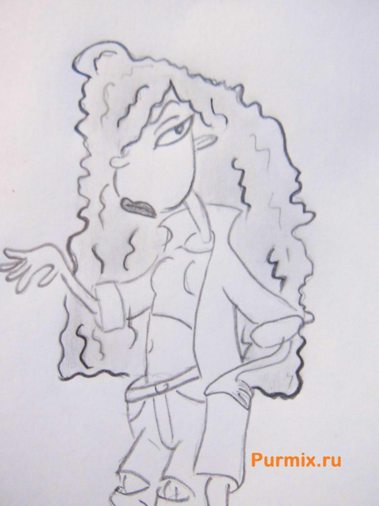 Как нарисовать Дебби Торнберри из Дикая семейка Торнберри карандашом