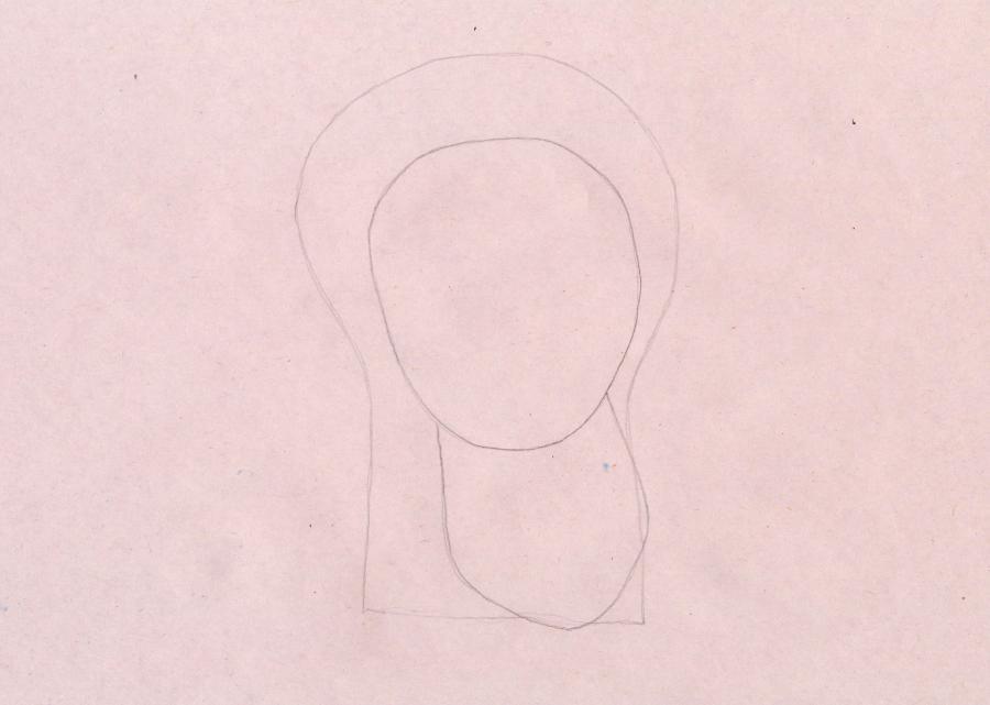 Рисуем Дедуса из мультика Фиксики - шаг 1