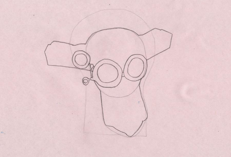 Рисуем Дедуса из мультика Фиксики - шаг 2