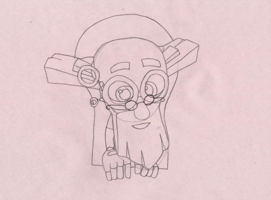 Рисуем Дедуса из мультика Фиксики - шаг 4