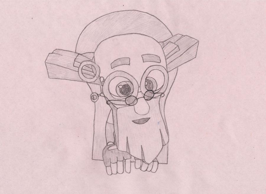 Как нарисовать Дедуса из мультика Фиксики карандашом поэтапно