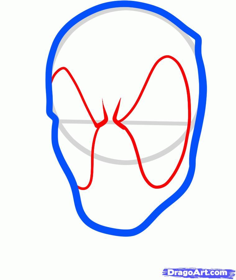 Рисуем голову Дэдпула - фото 3
