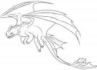 Рисунок дракона Беззубика из Как приручить дракона