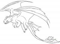 Фото дракона Беззубика из Как приручить дракона карандашом