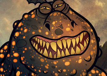 Как нарисовать дракона Громмеля (Сарделька) карандашом поэтапно