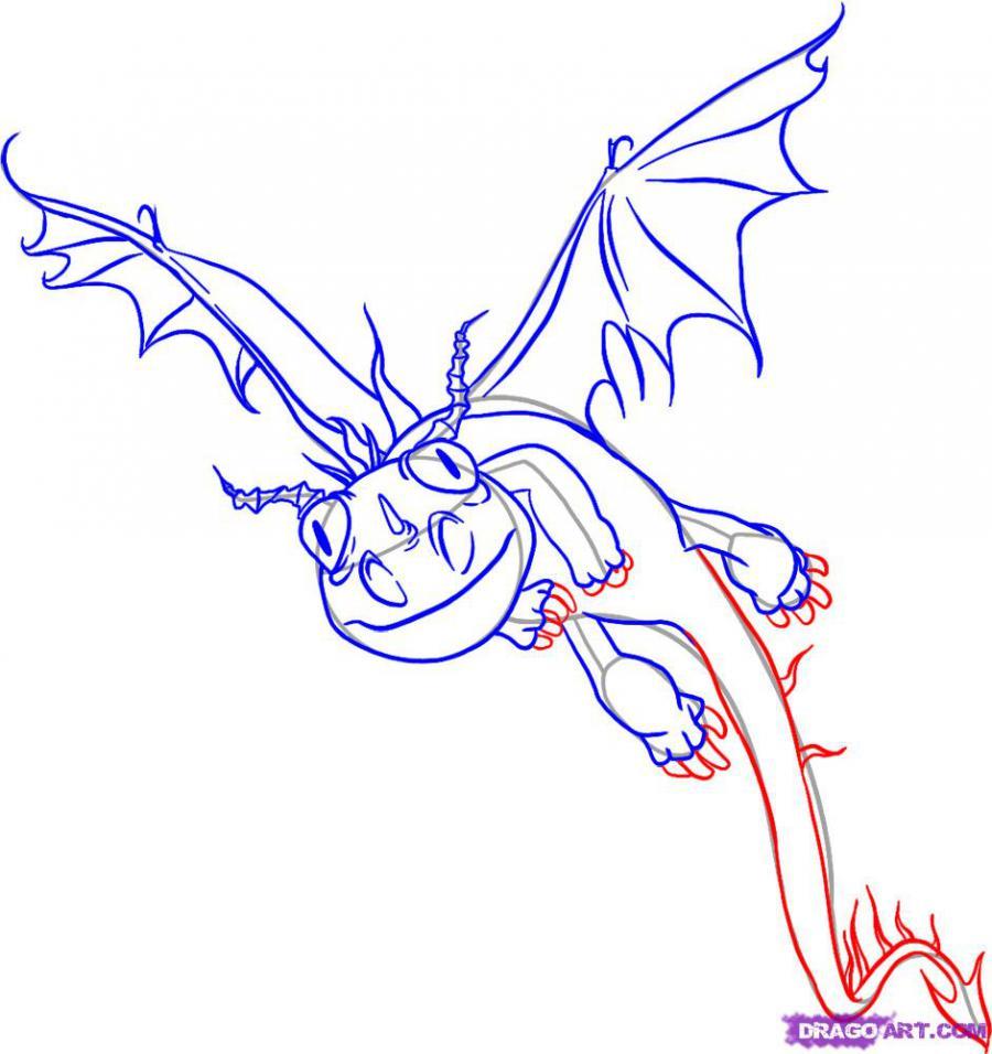 Рисуем дракона Жуткая жуть из Как приручить дракона