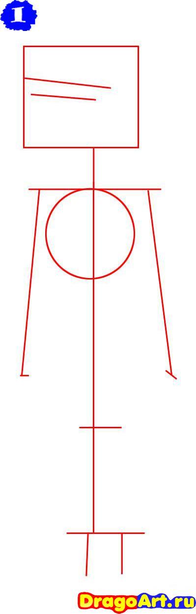 Как нарисовать Дункана на бумаге карандашом поэтапно