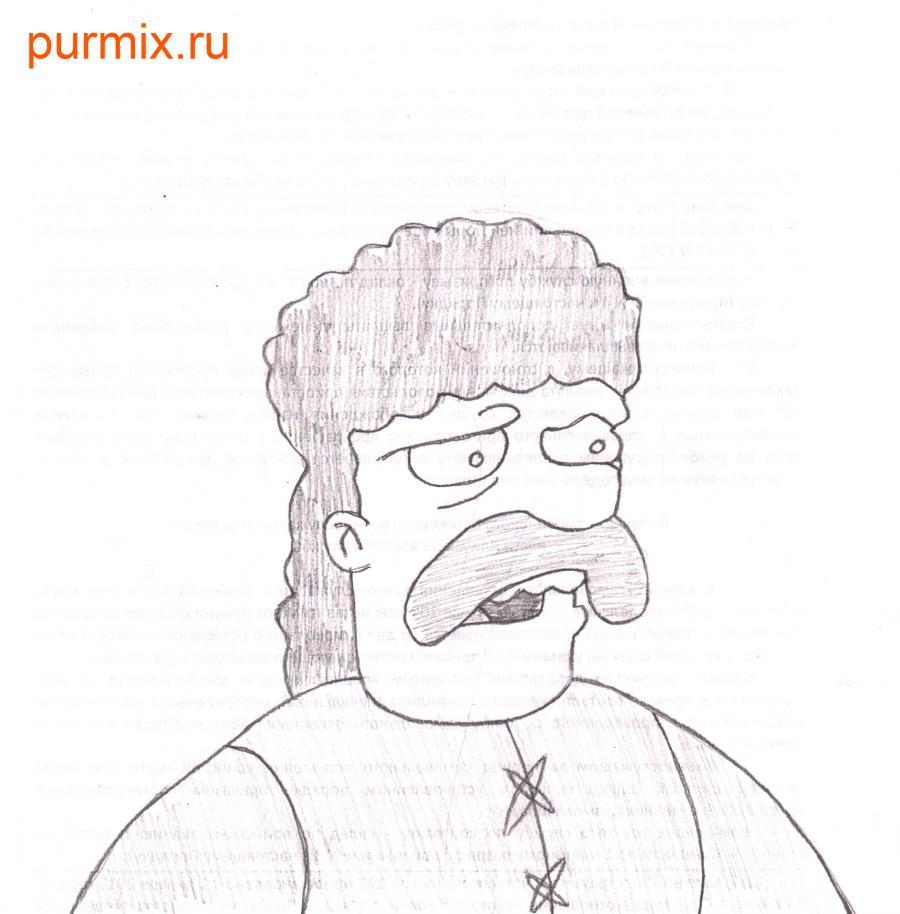 Рисуем Джебедая Спрингфилда из Симпсонов
