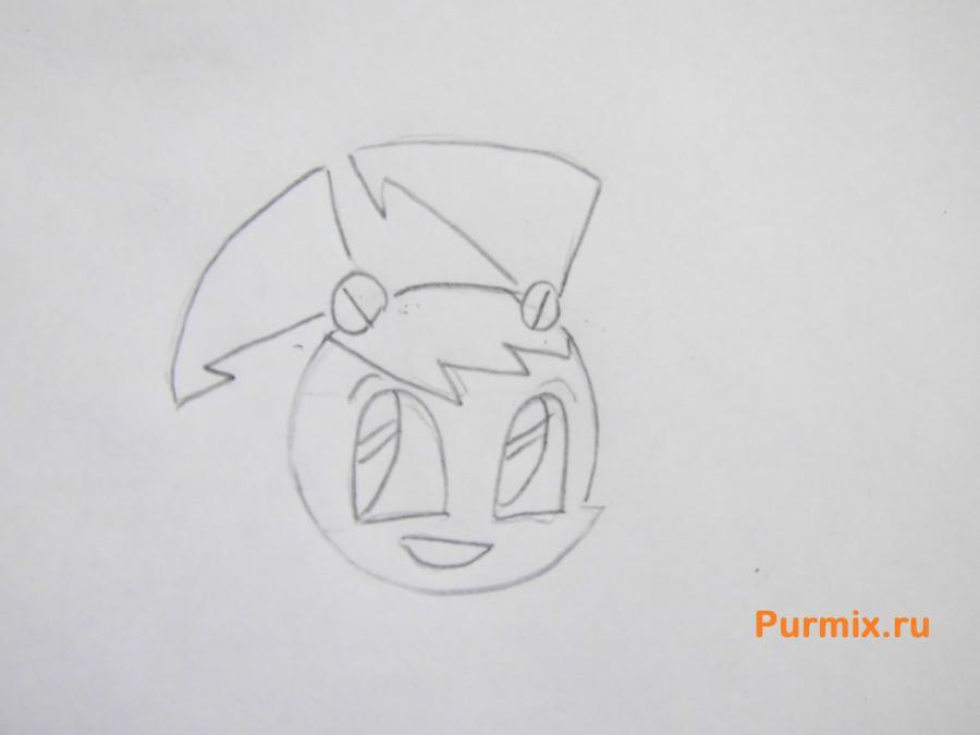 Рисуем Дженни из мультсериала Икс-Джей 9