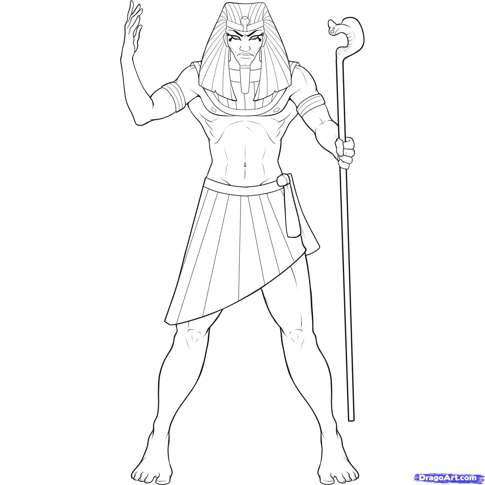 Рисуем Фараона