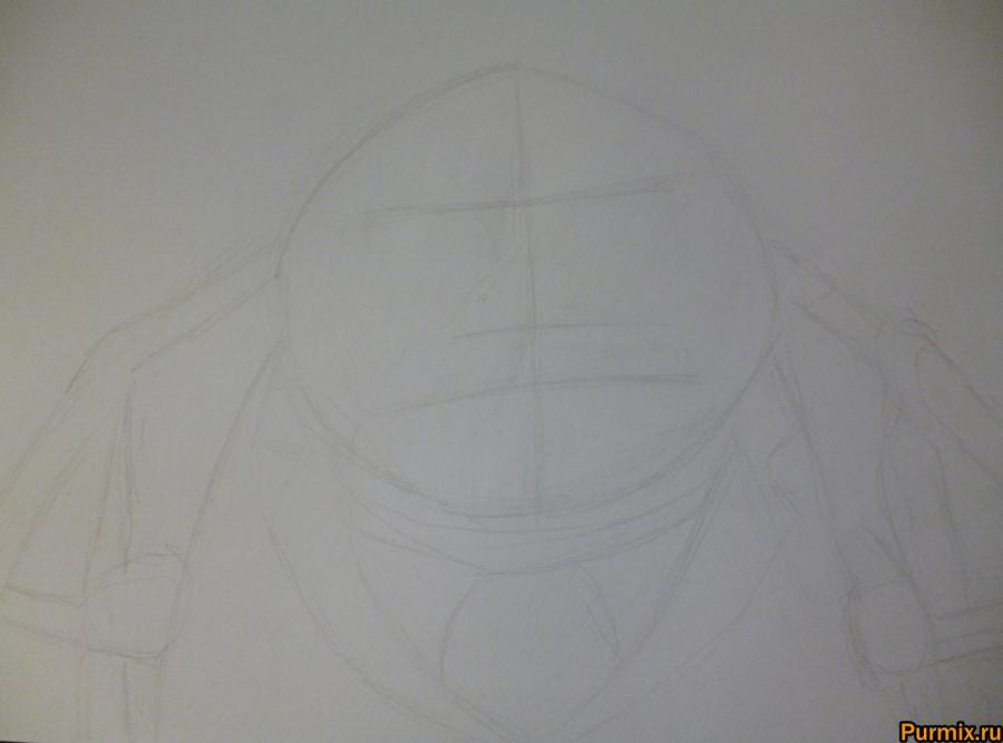 Как нарисовать Финиса Эверглот из Труп невесты поэтапно - шаг 1