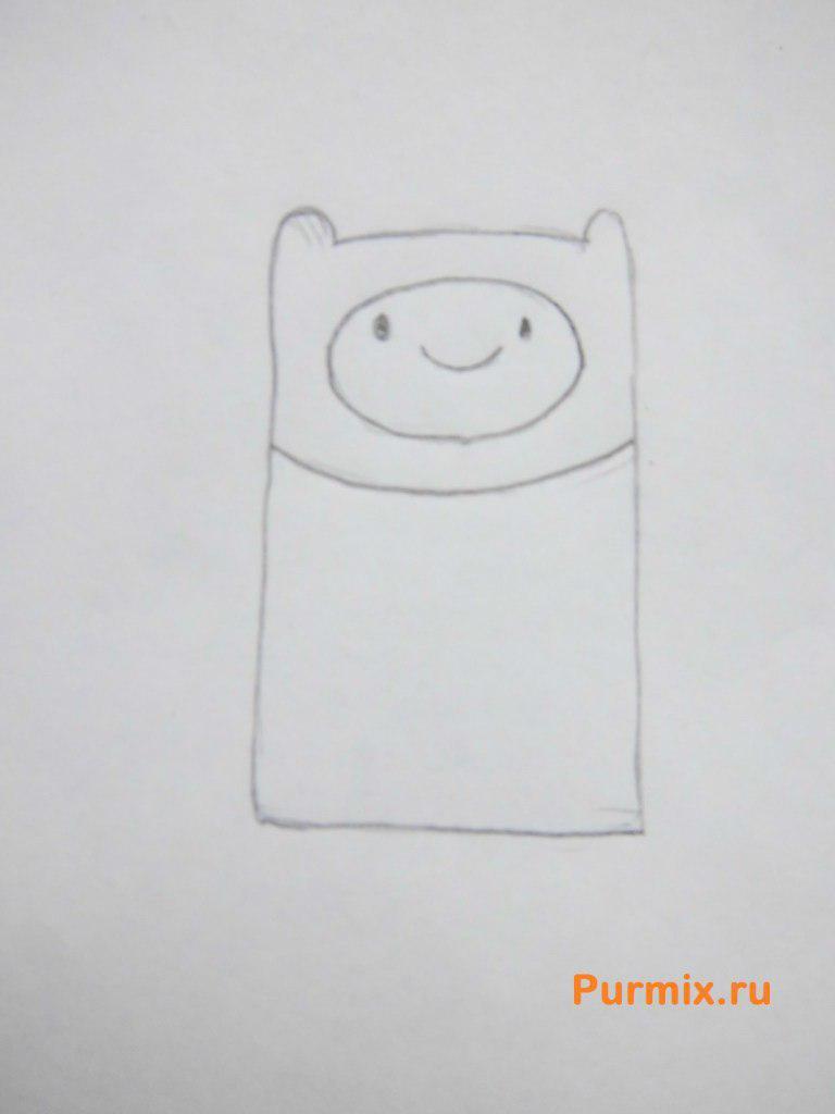 Как нарисовать Финна из мультсериала Время приключений