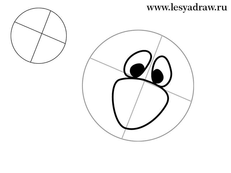 Как нарисовать Фреда Флинстоуна карандашом поэтапно