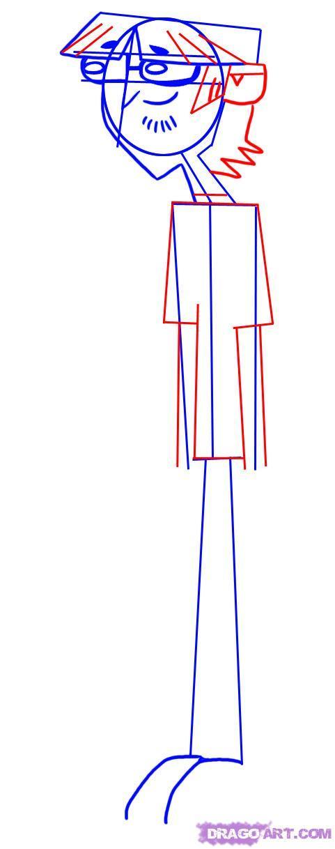 Как нарисовать Гарольда из мультсериала Остров отчаянных героев