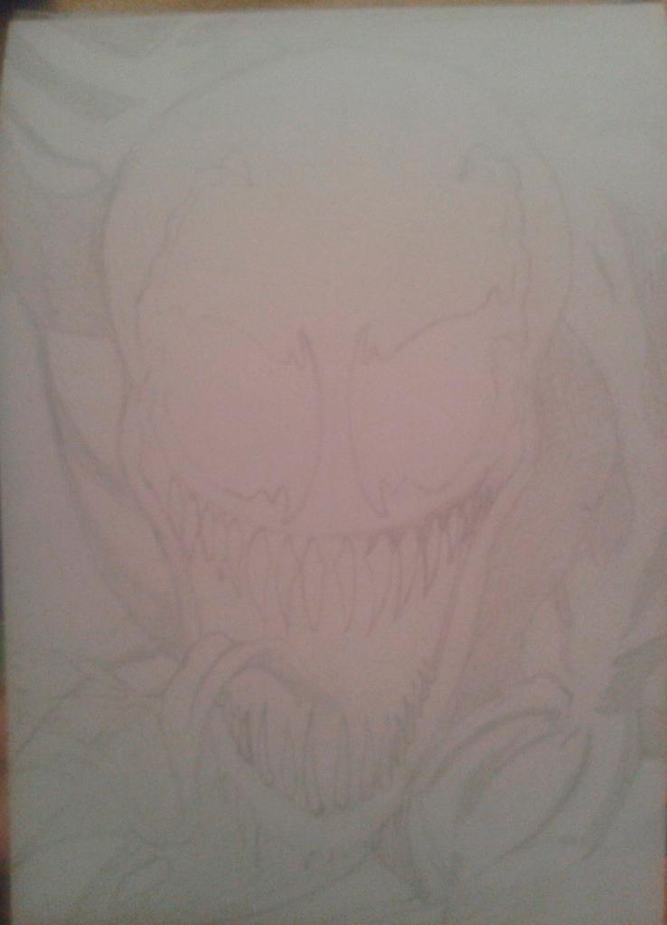 Рисуем голову Венома