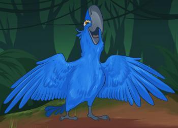 Рисуем Голубчика из мультфильма Рио