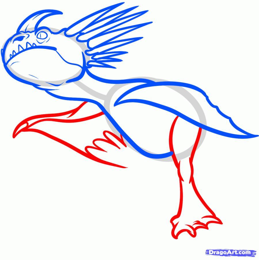 Рисуем Громгильда из мультфильма Как приручить дракона