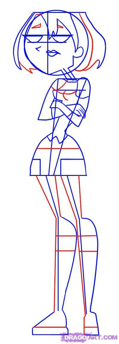 Рисуем Гвен из мультсериала Остров отчаянный героев