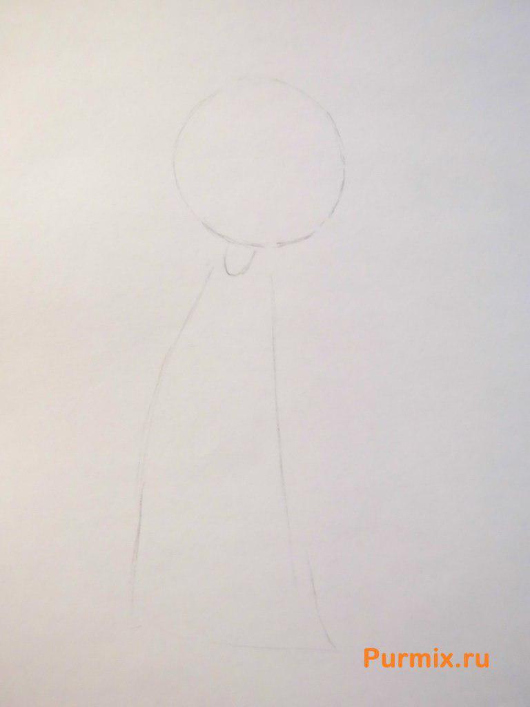 Рисуем Хельгу из Эй, Арнольд - шаг 1