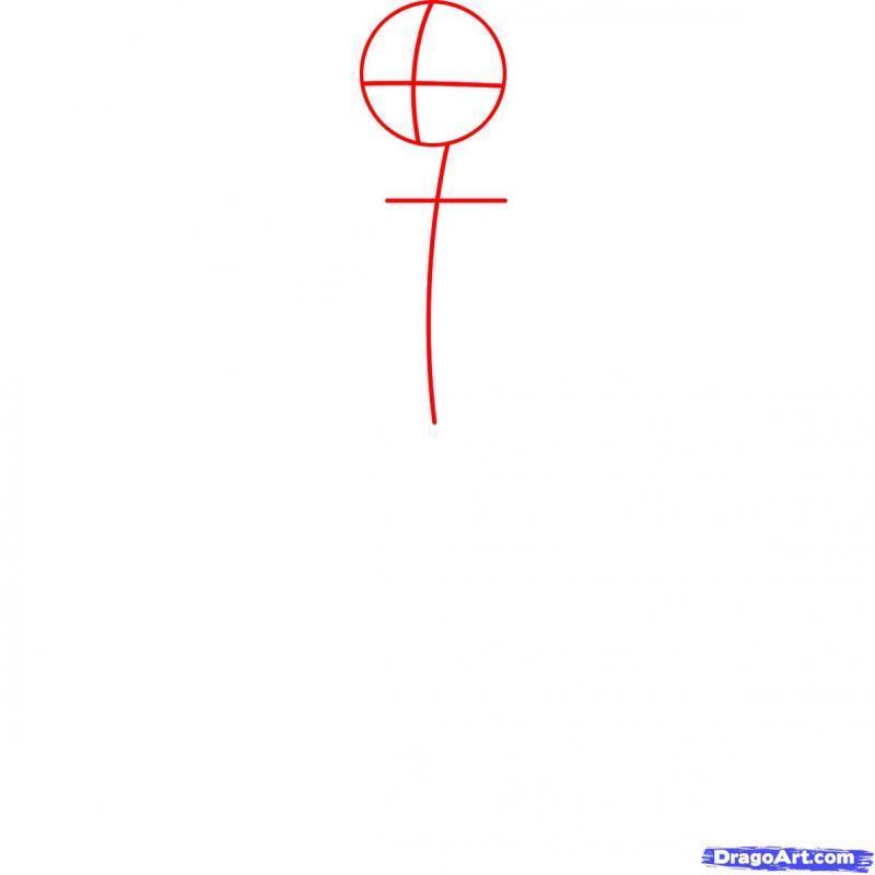 Как нарисовать Хезер карандашом поэтапно