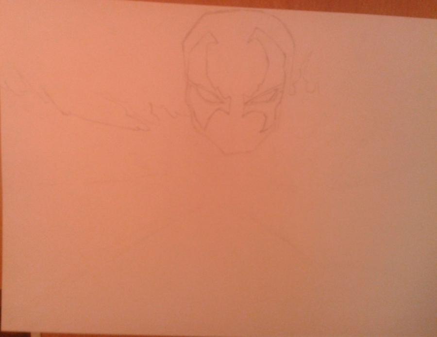 Как нарисовать и раскрасить Спауна поэтапно - шаг 2