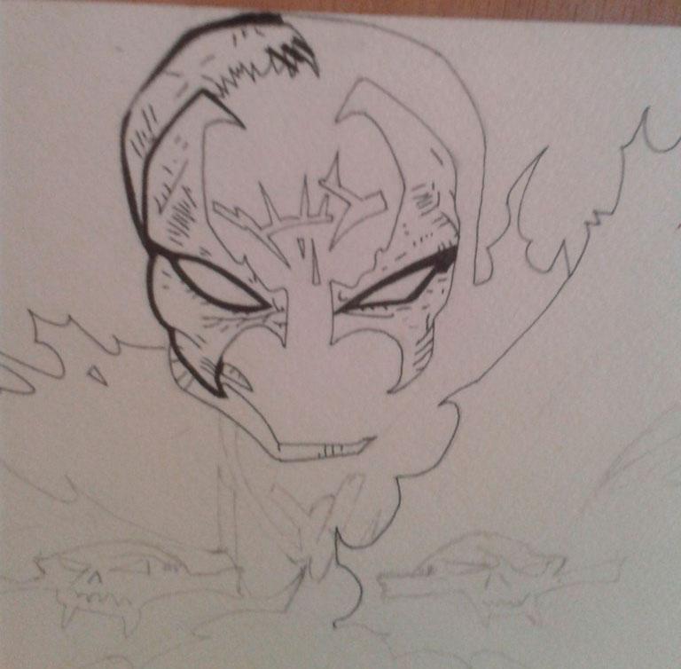 Как нарисовать и раскрасить Спауна поэтапно - шаг 4
