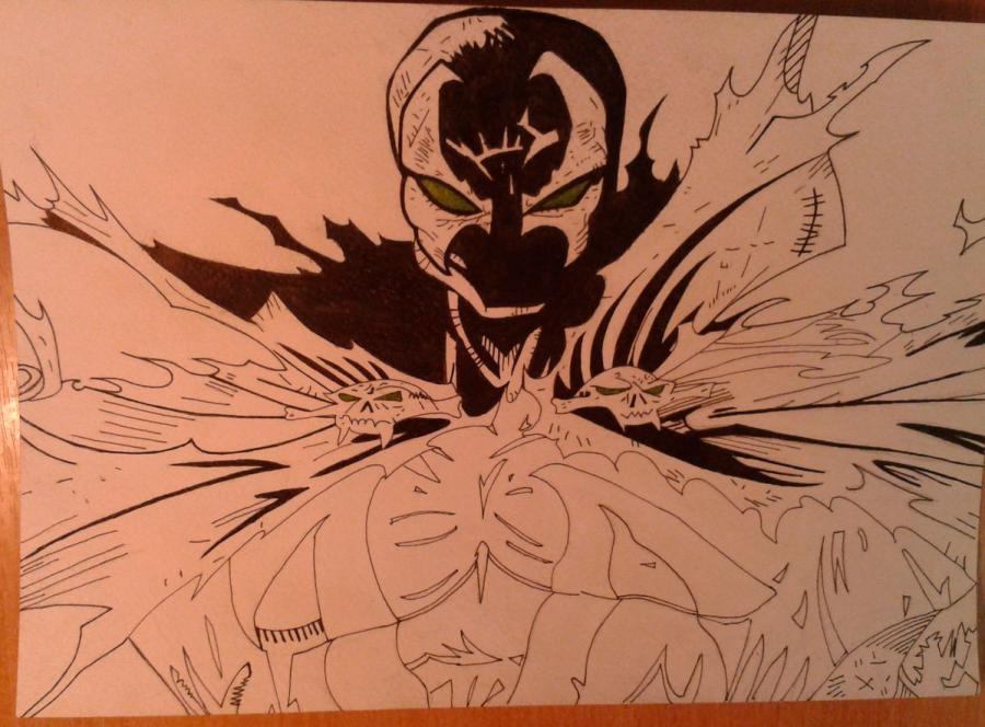 Как нарисовать и раскрасить Спауна поэтапно - шаг 8