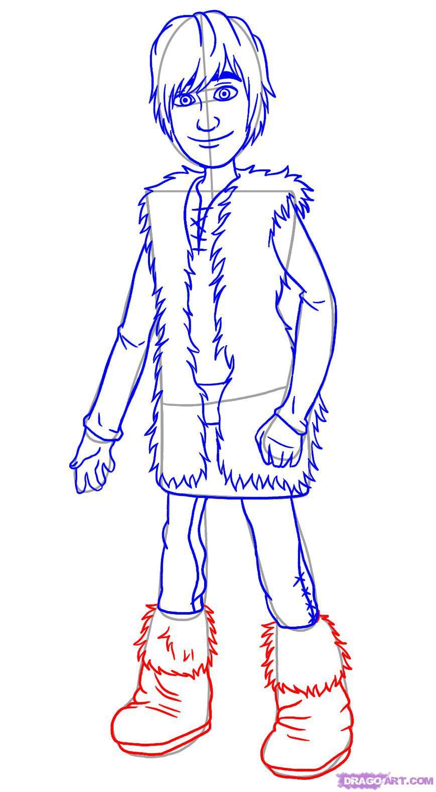 Рисуем Иккинга из мультфильма Как приручить дракона
