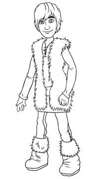 Иккинга из мультфильма Как приручить дракона карандашом