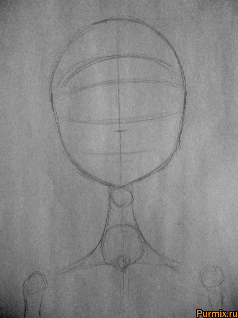 Как нарисовать Эмили из Труп невесты карандашами поэтапно - шаг 1