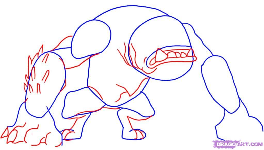 Рисуем космического пса из Бэн 10
