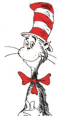 Кота в шляпе карандашом