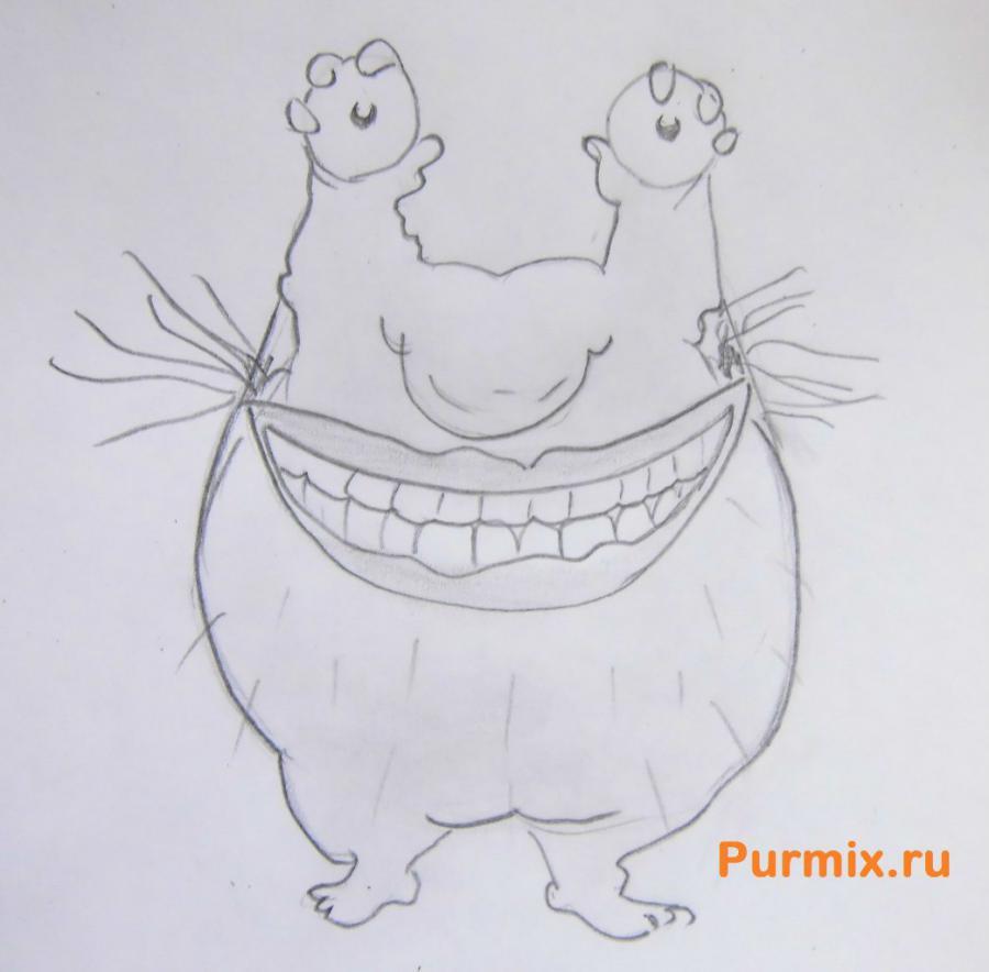 Рисуем Крамма из мультсериала ААА! Настоящие монстры