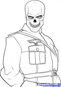 Красного Черепа из Капитан Америка карандашом