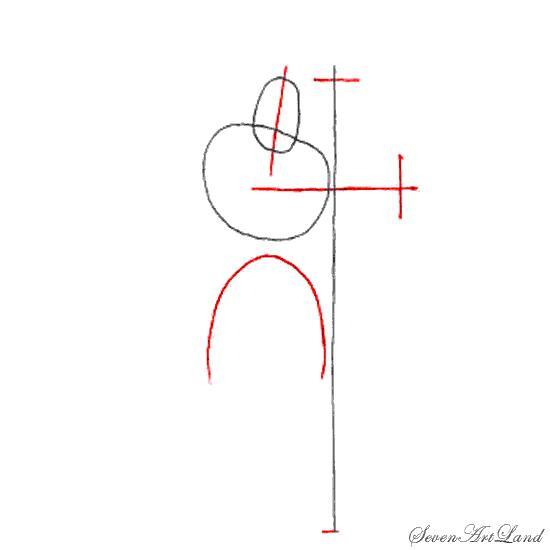 Рисуем крестоносца на бумаге