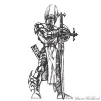 крестоносца на бумаге карандашом