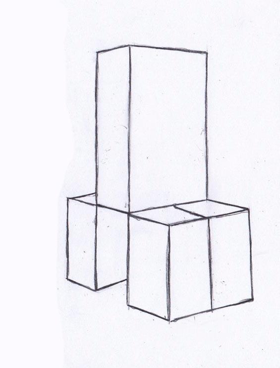 Рисуем Крипера из игры Майнкрафт - шаг 2