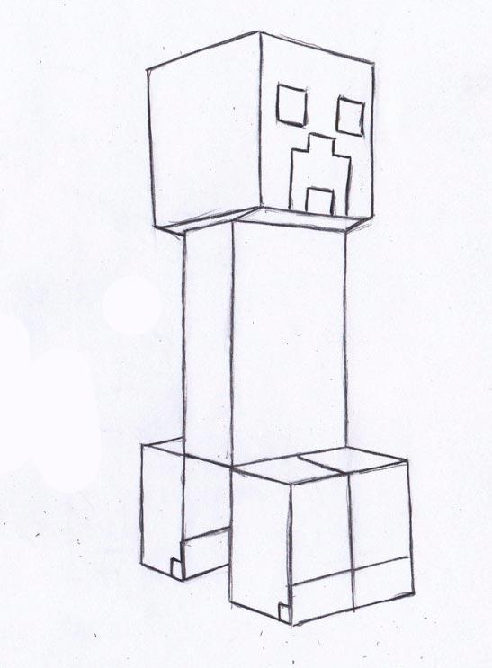 Рисуем Крипера из Майнкрафта