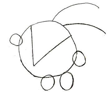 Рисуем смешарика Кроша - шаг 2