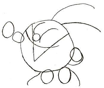 Рисуем смешарика Кроша - шаг 3